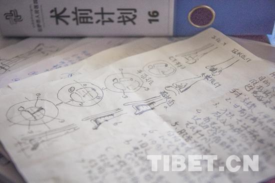 龚晓峰徒弟所做的术前计划 摄影:赵耀