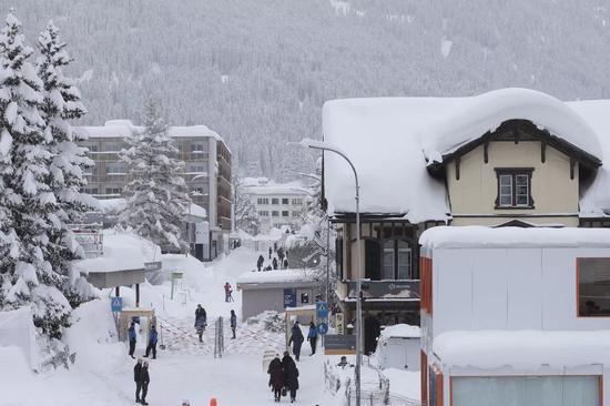 △有着厚厚积雪的达沃斯曾是调养景点