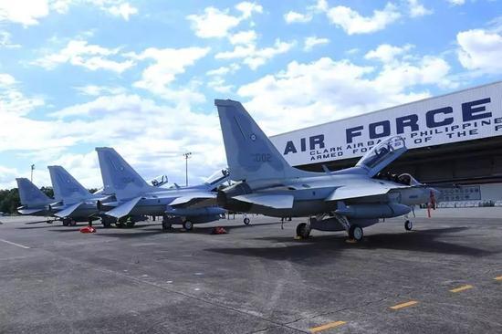 ▲菲律宾空军接收的韩FA50战机