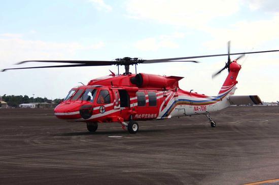 """一架""""黑鹰""""直升机昨日(5日)失联。"""