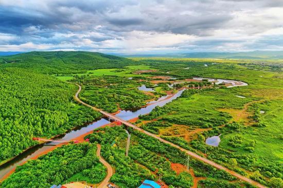 ▲大兴安岭森林公路风景(来源:视觉中国)