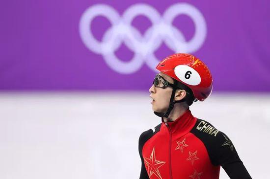 武大靖在平昌奥运赛场。