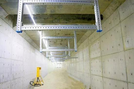 管廊内部支架。