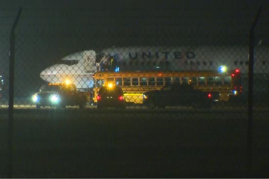 图为发生事故的航班。(图片来源:美媒)