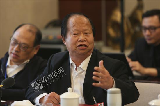 杨振河小组讨论时发言 摄/记者 温如军