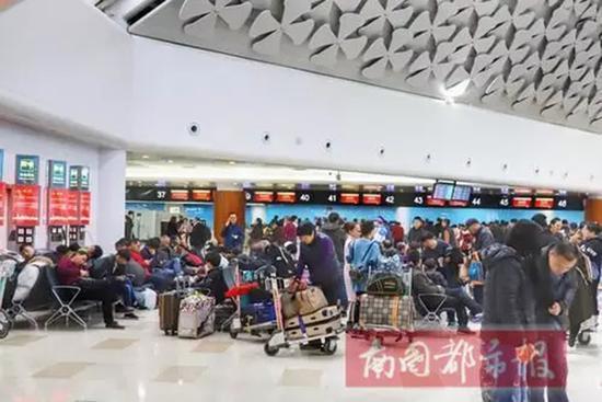 海口美兰机场,旅客等待办理登机牌。航空保障海南新增多个进出岛航班