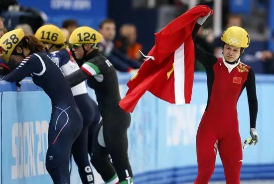 ▲资料图片:李坚柔索契冬奥会神奇夺冠。