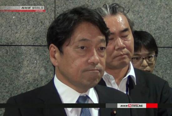 日本防卫大臣小野寺五典(NHK)