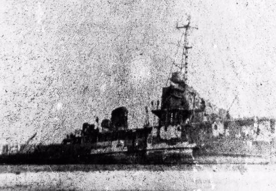 389舰仅存的影像那一战,是甲午之后,