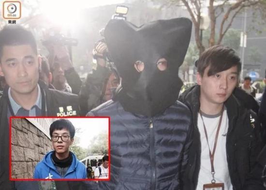 2016年2月21日,黄台仰被押至住所搜查。(图源:香港东网)