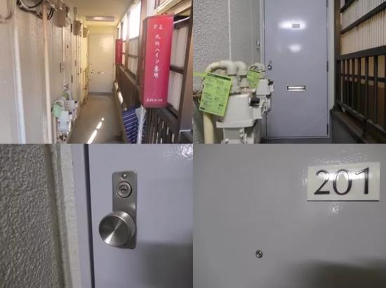 江歌生前在日本租住的公寓。