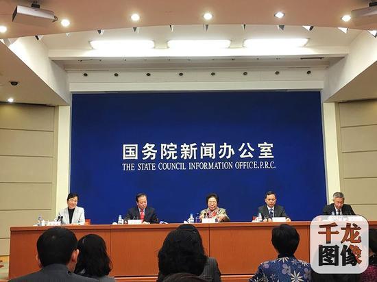 12月26日上午,2019北京世园会第二次新闻发布会在国务院新闻办公室召开。图为新闻发布会现场。千龙网记者 李金鑫摄