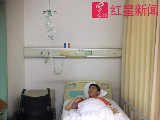 ▲现在,躺在病床上的宋学文 图片起源:红星消息