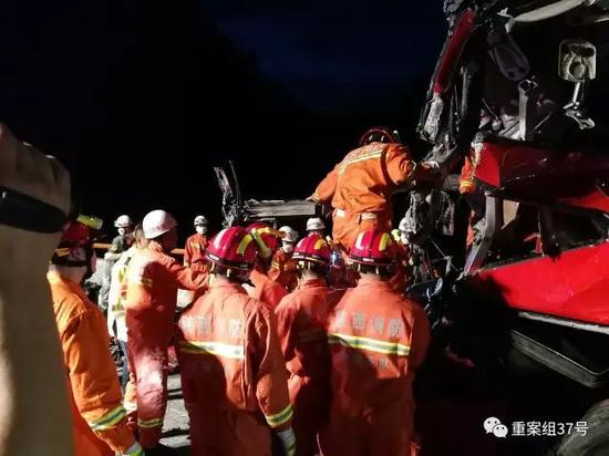 ▲现场救援情况。图片来源/新华社