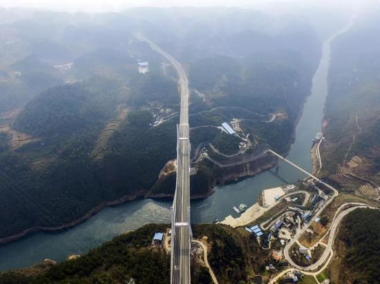 ▲即将通车的遵贵复线高速(来源:视觉中国)