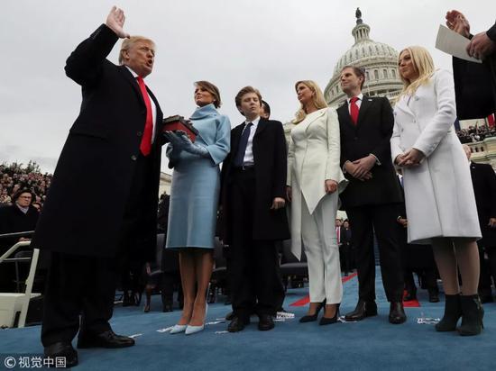 ▲资料图片:2017年1月20日,美国华盛顿,美国第45任总统特朗普的就职典礼举行。 (视觉中国)