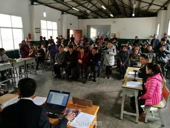 庭审现场 图据云南共青团微博