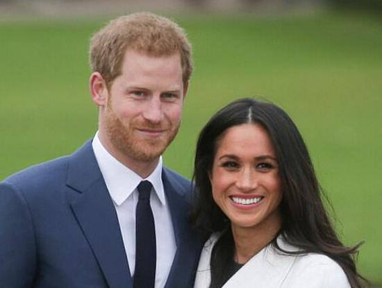 哈里王子与未婚妻梅根·马克尔。