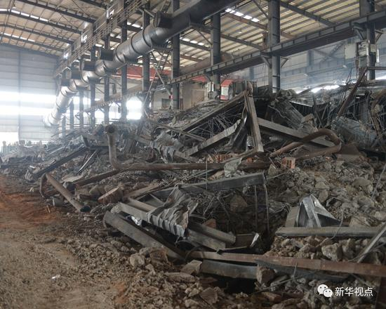 湖南鑫光新材料科技有限公司被拆除的轨道(8月1日摄)新华社发 薛宇舸 摄