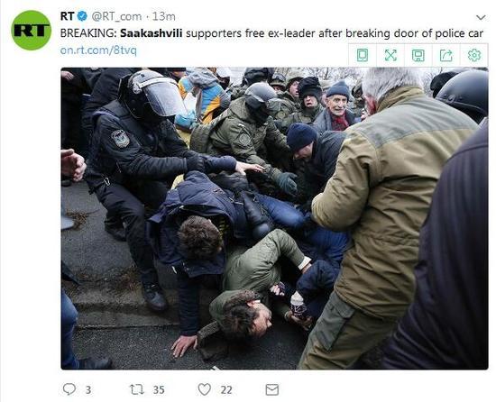 图为骚乱现场
