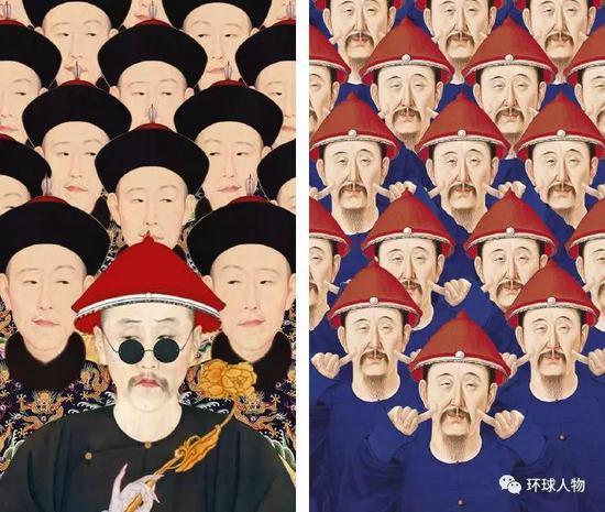 故宫官方微博上展示的清代皇帝趣图。