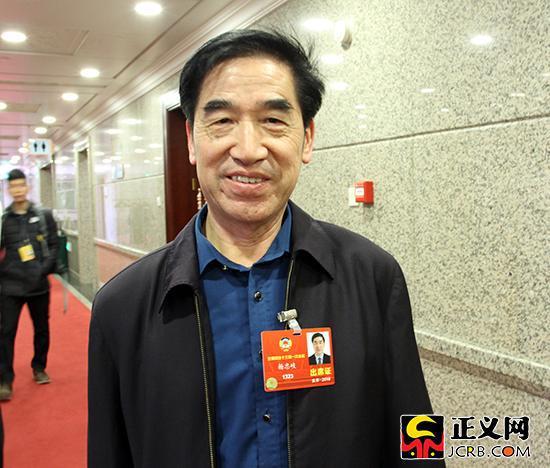 全国政协委员、中国林科院首席专家杨忠岐。徐日丹 摄