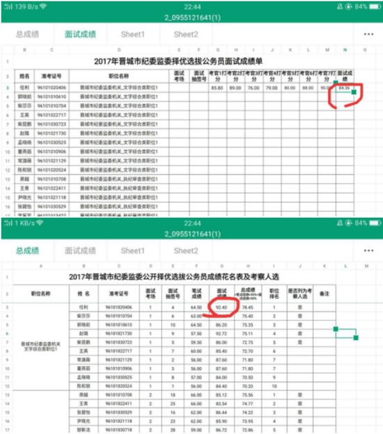 截图自晋城市纪委监委官方网站。