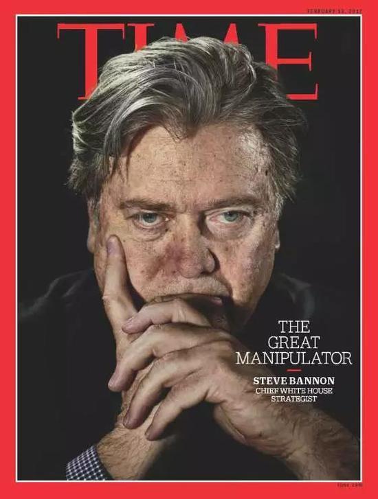 ▲班農登上《時代》雜誌封面。圖據《時代》雜誌