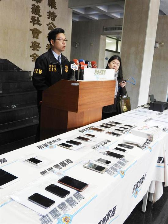 """台湾诈骗大陆民众3个月就高达上千万人民币!(图片来源:台湾""""中国时报"""")"""