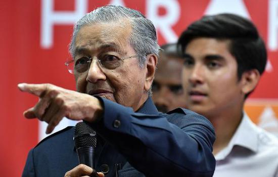 马来西亚新总理马哈蒂尔 视觉中国 图