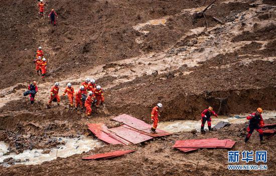 贵州滑坡32人失联 搜救组:不到最后一刻绝不放弃|山体滑坡|救援|水城