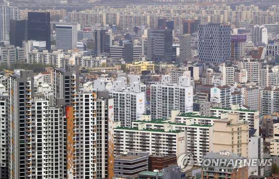 首尔市一处住宅区
