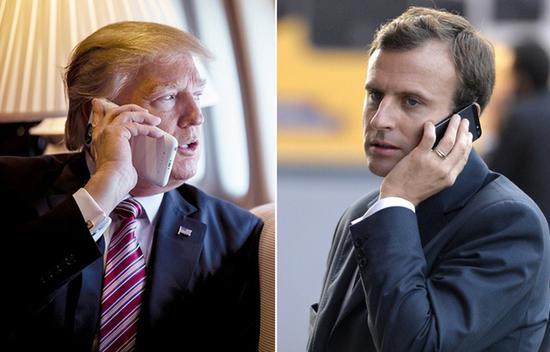 特朗普与马克龙 图自外媒