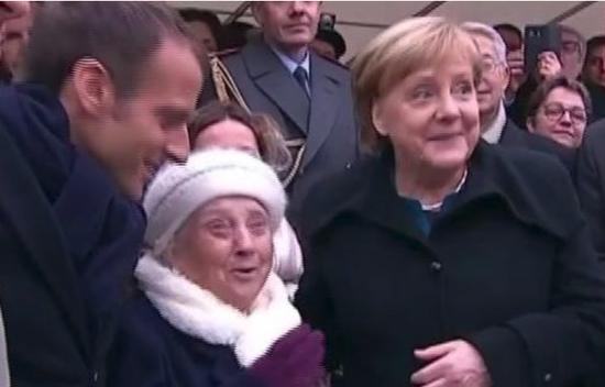 视频-默克尔被错认成马克龙夫人 忙澄清:我是德国