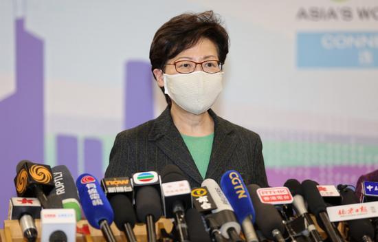 林郑月娥:香港特区政府将不遗余力推动大湾区发展图片