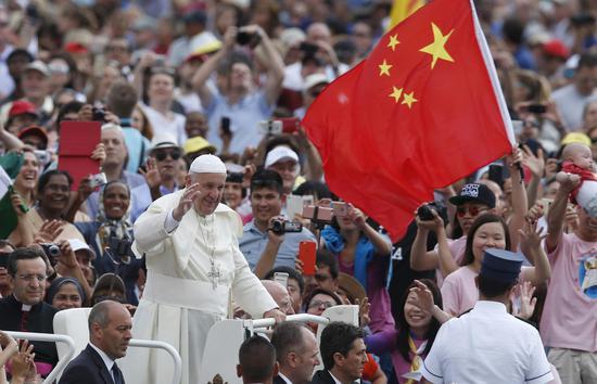中国信徒在梵蒂冈 图自 AmericaMagazine