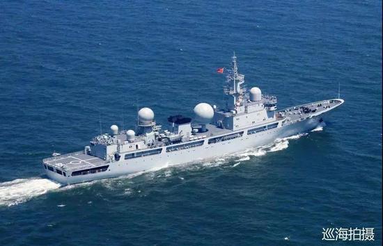 ▲中国海军855号电子侦察船