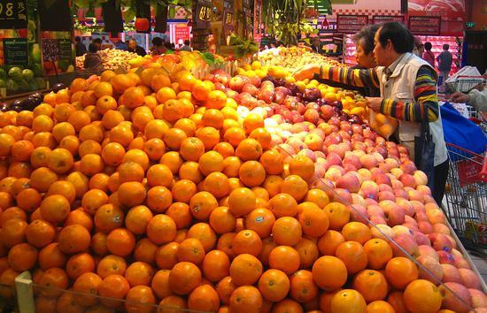 商务部:6种水果平均批发价比前一周下降1%