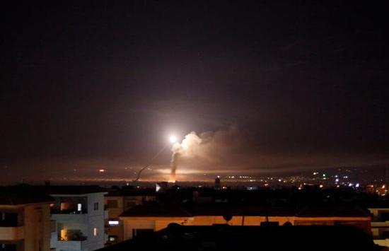 叙媒:以色列向叙首都射导弹 叙两处军事设施被