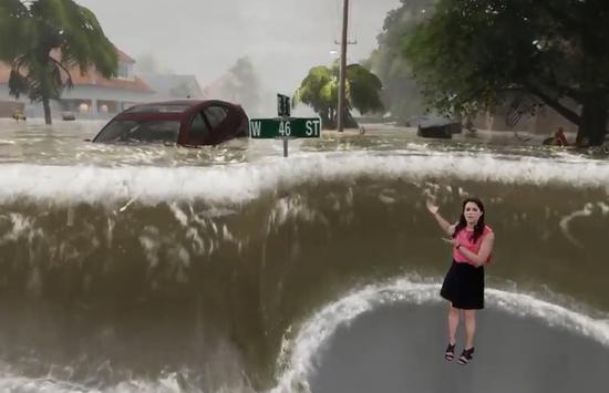 视频:飓风佛罗伦斯袭美 天气频道逼真视效获好评