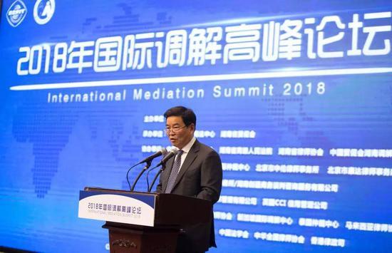 湖南省人民政府副省长何报翔在论坛中致辞