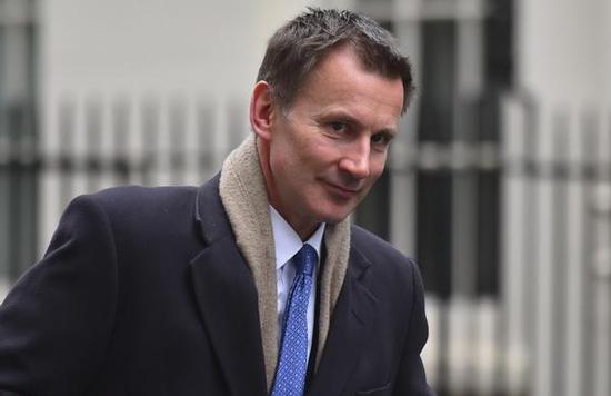 英國新任外交大臣傑裡米·亨特  東方IC 圖