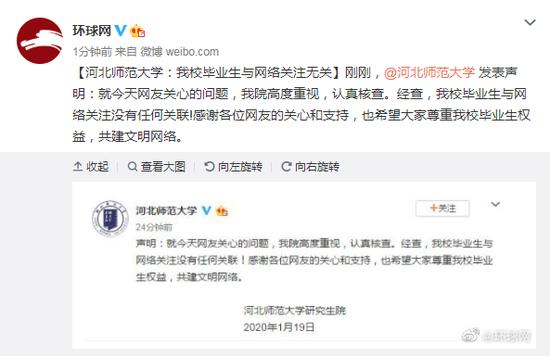 河北师范大学:我校毕业生与网络关注无关图片