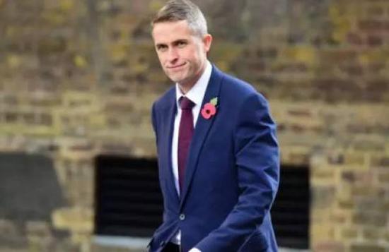 英國國防大臣加文·威廉姆森(Gavin Williamson)  海外網 資料圖