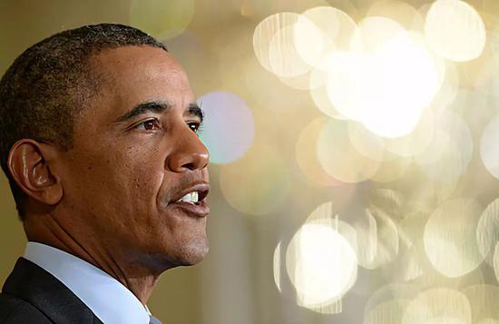▲材料图片:2014年1月9日,好国时任总统奥巴马正在华衰顿黑宫颁发发言。(新华社)