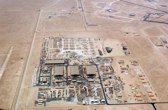 ▲卡塔尔乌代德空军基地,美国在中东最大的空军基地之一。