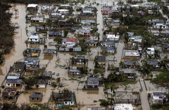 俯瞰受灾后不久的波多黎各 图源:《华盛顿邮报》