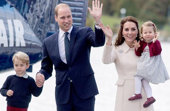 威廉夫妇与乔治王子、夏洛特公主