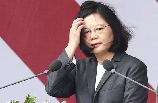 图为台湾地区领导人蔡英文。(来源:中时电子报)
