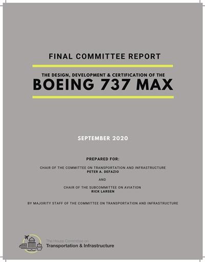 波音737MAX空难报告发布 揭美航空监管存严重问题